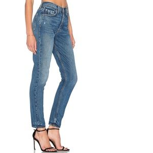Grlfrnd karolina high rise button fly skinny jeans